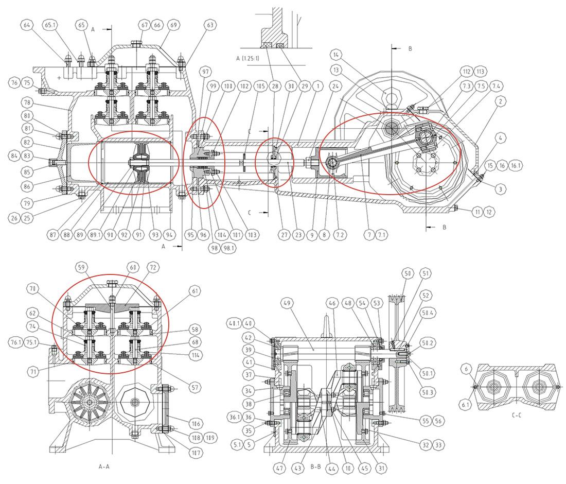 PT Onderdelen schema